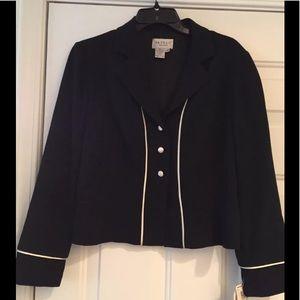 NWT Papell Petites Black Polyester Blazer 12P (M3)